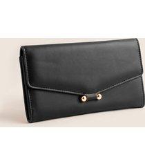 billetera femenina con tipo sobre grande. negro uni