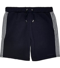 river island mens maison riviera navy dogtooth panelled shorts