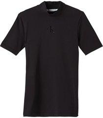 camiseta slim con cuello perkins negro calvin klein