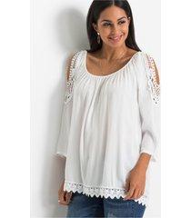 cold shoulder blouse met kant