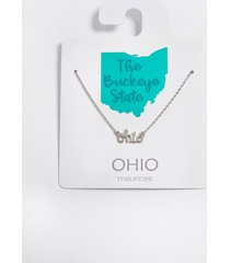 maurices womens dainty ohio necklace gray