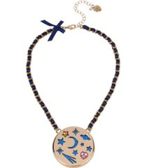 betsey johnson celestial cut-out pendant necklace