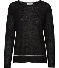 ls alpaca blend sweater gebreide trui zwart calvin klein