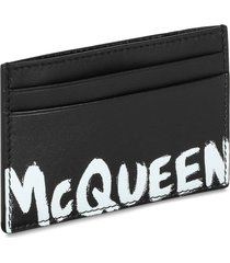alexander mcqueen card holder graffiti