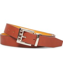 dkny logo-buckle reversible belt