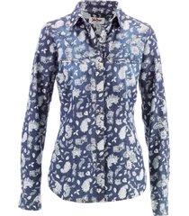 camicia in jeans a maniche lunghe (blu) - john baner jeanswear