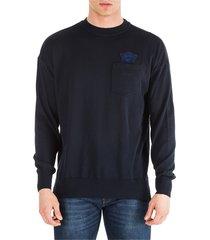 emporio armani crew neck neckline jumper sweater pullover comfort fit