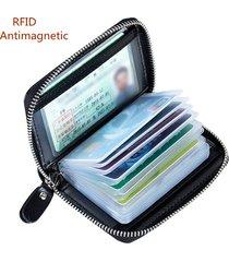 portafoglio portacarte con rfid antimagnetico con 16 card slots chiusura a zip