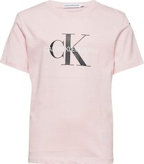 monogram logo t-shirt t-shirts short-sleeved rosa calvin klein