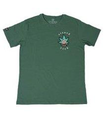 camiseta masculina stoned rick - g - amarelo verde