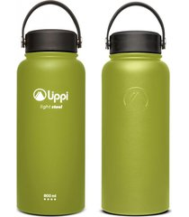botella light steel wide top 950 ml verde militar lippi