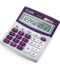 calculadora de mesa elgin visor com 12 digitos roxa