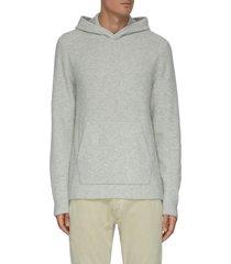 kangaroo pocket hood cashmere sweatshirt