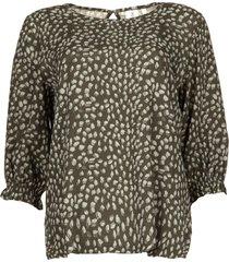 blouse met print pascal  groen