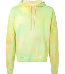 john elliott beach marble mix hoodie - green