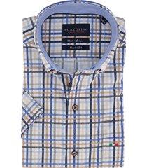 korte mouwen overhemd portofino geruit