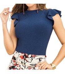 body rosy azul para mujer croydon