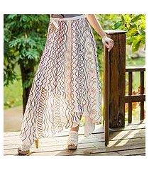 cotton wrap around skirt, 'hill tribe chic' (thailand)