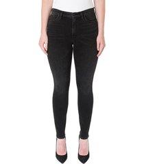 hudson women's natalie mid-rise super skinny jeans - black - size 24 (0)