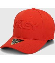 gorra rojo oakley hat embossed