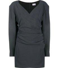 grey wool shift dress