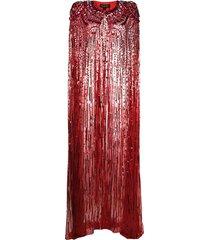 jenny packham star sequin full-length cape - red