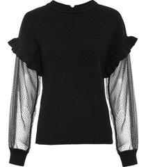 maglione con volant (nero) - bodyflirt