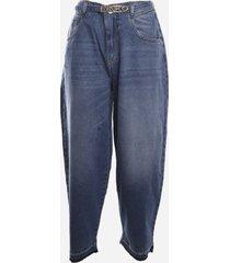 pinko slouchy jeans in vintage denim