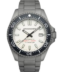 spinnaker men's tesei automatic gray-tone titanium bracelet watch 43mm