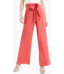 bar iii tie-waist wide-leg pants, created for macy's