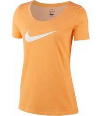 camiseta naranja nike dry scoop swoosh bq4692-882