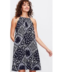 loft tall bandana halter dress