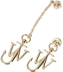 gold-tone brass anchor earrings