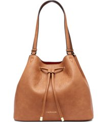 calvin klein gabrianna leather shopper