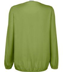blus med hålmönster dress in grön