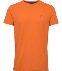 contrast logo ss t-shirt t-shirts short-sleeved orange gant
