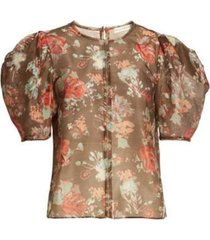 lise floral print top