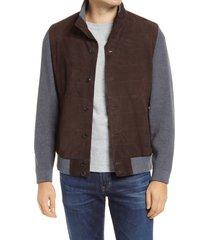 men's peter millar crown hybrid suede jacket
