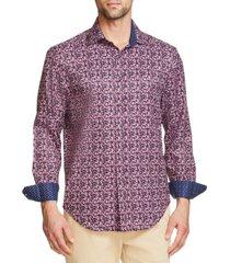 tallia men's tie dye long sleeve button up shirt