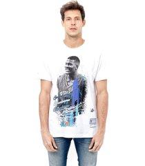 camiseta mitchell & ness estampada charlotte hornets grandmama branca - branco - masculino - dafiti