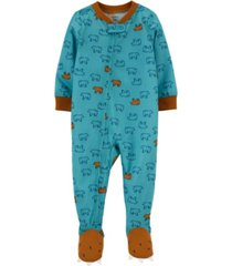 carter's toddler boy 1-piece loose fit footie pjs