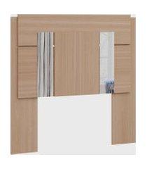 cabeceira solteiro p/ box 0,880 c/ espelho móveis castro marrom