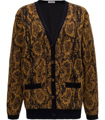 saint laurent cardigan with python print