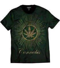 camiseta cannabis marijuana erva verde - masculino
