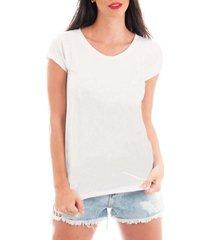 camiseta criativa urbana t-shirt blusa lisa - feminino