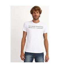 "camiseta masculina antiviral slim new normal"" manga curta gola careca branca"""