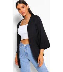 basic jersey mini kimono, black