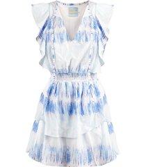daily glamour jurk blauw 1008