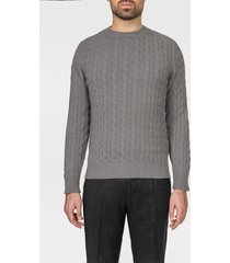 larusmiani cashmere cable knit sweater col du pillon