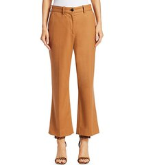 libby wool-blend pants